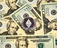 Νόμισμα cryptocurrency ETHEREUM Στοκ εικόνες με δικαίωμα ελεύθερης χρήσης