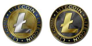 Νόμισμα cryptocurrency LITECOIN Στοκ φωτογραφίες με δικαίωμα ελεύθερης χρήσης