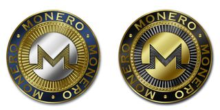 Νόμισμα cryptocurrency MONERO Στοκ Φωτογραφία