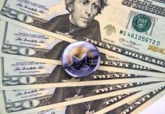 Νόμισμα cryptocurrency MONERO Στοκ Φωτογραφίες