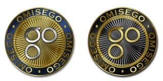 Νόμισμα cryptocurrency OMISEGO Στοκ Φωτογραφίες