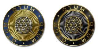 Νόμισμα cryptocurrency QTUM Στοκ Εικόνα