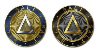 Νόμισμα Cryptocurrency SALT Στοκ εικόνα με δικαίωμα ελεύθερης χρήσης