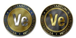 Νόμισμα Cryptocurrency VERITASEUM Διανυσματική απεικόνιση
