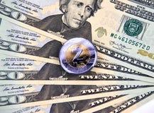 Νόμισμα cryptocurrency ZCASH Στοκ Εικόνες