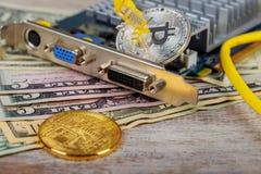 Νόμισμα Ethereum που δίνει το cryptocurrency μηχανών στοκ εικόνες