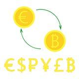 Νόμισμα excange απεικόνιση αποθεμάτων