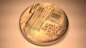 Νόμισμα NYSE απόθεμα βίντεο