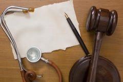 Νόμος και ιατρική στοκ φωτογραφία