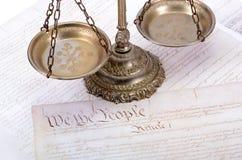 Νόμος και δικαιοσύνη Στοκ Φωτογραφία
