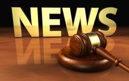 Νόμος και νομική έννοια δικαιοσύνης ειδήσεων Στοκ Εικόνες