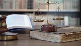 Νόμος, νομικό σύστημα και δικαιοσύνη απόθεμα βίντεο