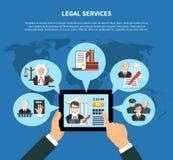 Νόμος App στη σύνθεση απεικόνιση αποθεμάτων