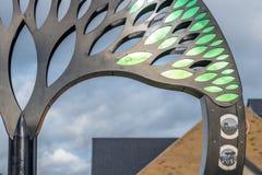 Νόρθαμπτον UK στις 15 Ιανουαρίου 2018: Βρετανικό μνημείο τέχνης Timken σε Duston Στοκ Εικόνες