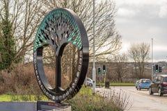 Νόρθαμπτον UK στις 15 Ιανουαρίου 2018: Βρετανικό μνημείο τέχνης Timken σε Duston Στοκ εικόνες με δικαίωμα ελεύθερης χρήσης