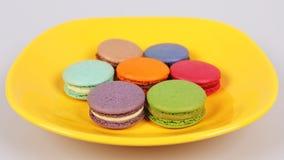 Νόστιμα εύγευστα macaroons μπισκότα στοκ εικόνες