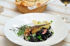 Νόστιμα ιταλικά τρόφιμα Στοκ φωτογραφία με δικαίωμα ελεύθερης χρήσης