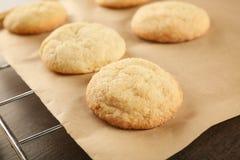 Νόστιμα μπισκότα ζάχαρης σε χαρτί περγαμηνής, Στοκ εικόνες με δικαίωμα ελεύθερης χρήσης