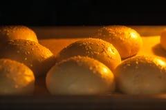 Νόστιμα σπιτικά κουλούρια με το σουσάμι στο φούρνο Στοκ φωτογραφίες με δικαίωμα ελεύθερης χρήσης