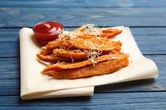 Νόστιμα τηγανητά γλυκών πατατών στοκ φωτογραφία με δικαίωμα ελεύθερης χρήσης
