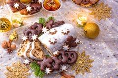 Νόστιμα Χριστούγεννα Stollen Στοκ φωτογραφίες με δικαίωμα ελεύθερης χρήσης
