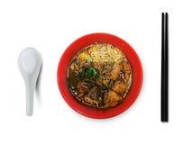 Νόστιμη ασιατική σειρά τροφίμων Στοκ Εικόνα