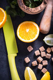 Νόστιμη θερινή αναζωογονώντας λεμονάδα Στοκ Εικόνα