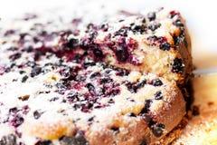 Νόστιμη πίτα με τα βακκίνια στον ξύλινο πίνακα Στοκ φωτογραφίες με δικαίωμα ελεύθερης χρήσης