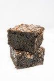 Νόστιμη σοκολάτα Brownies στο άσπρο υπόβαθρο Στοκ φωτογραφία με δικαίωμα ελεύθερης χρήσης