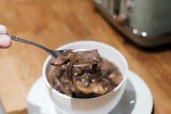 Νόστιμη σούπα μανιταριών Στοκ φωτογραφία με δικαίωμα ελεύθερης χρήσης