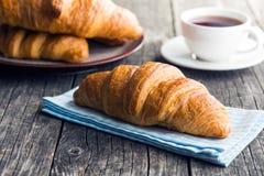 Νόστιμος βουτυρώδης croissant στοκ εικόνες με δικαίωμα ελεύθερης χρήσης