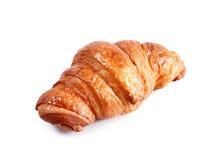 Νόστιμος croissant με τη σοκολάτα και μαρμελάδα στο λευκό στοκ φωτογραφία