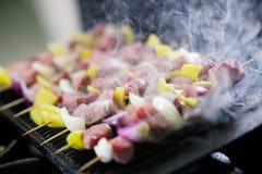 νόστιμο κρέας στο ραβδί Στοκ εικόνα με δικαίωμα ελεύθερης χρήσης