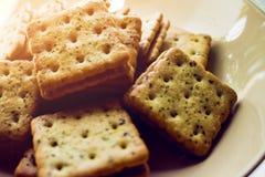 Νόστιμο μπισκότο, μπισκότα στο πιάτο, τρόφιμα επιδορπίων, τρόφιμα πρόχειρων φαγητών στοκ εικόνα