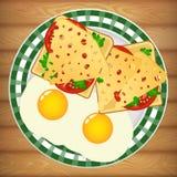 Νόστιμο υγιές σάντουιτς Στοκ Φωτογραφία