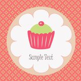 Νόστιμο cupcake Στοκ εικόνα με δικαίωμα ελεύθερης χρήσης