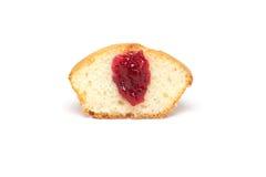 Νόστιμο muffin στο άσπρο υπόβαθρο Στοκ εικόνες με δικαίωμα ελεύθερης χρήσης