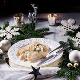 Νόστιμο pierogi Χριστουγέννων στιλβωτικής ουσίας παραδοσιακό Στοκ φωτογραφίες με δικαίωμα ελεύθερης χρήσης