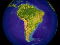 Νότια Αμερική στη γη στοκ φωτογραφίες με δικαίωμα ελεύθερης χρήσης