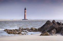 Νότια Καρολίνα του Τσάρλεστον φάρων νησιών Morris Στοκ Φωτογραφία