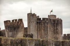 Νότια Ουαλία του Castle Caerphilly Στοκ Εικόνα