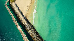Νότια παραλία, Μαϊάμι Μπιτς Φλώριδα εναέρια όψη Στοκ Εικόνες