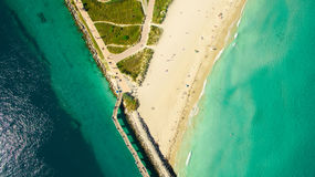 Νότια παραλία, Μαϊάμι Μπιτς Φλώριδα εναέρια όψη Στοκ φωτογραφία με δικαίωμα ελεύθερης χρήσης