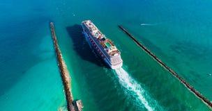 Νότια παραλία, Μαϊάμι Μπιτς Φλώριδα εναέρια όψη Στοκ Φωτογραφίες