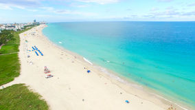 Νότια παραλία, Μαϊάμι Μπιτς Φλώριδα εναέρια όψη Στοκ Εικόνα