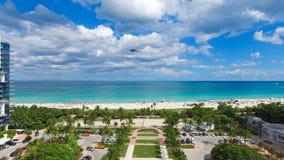 Νότια παραλία, Μαϊάμι Μπιτς Φλώριδα εναέρια όψη Στοκ εικόνα με δικαίωμα ελεύθερης χρήσης