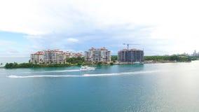 Νότια παραλία, Μαϊάμι Μπιτς Φλώριδα εναέρια όψη Στοκ φωτογραφίες με δικαίωμα ελεύθερης χρήσης