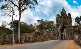 Νότια πύλη σε Angkor Thom στην Καμπότζη Στοκ φωτογραφίες με δικαίωμα ελεύθερης χρήσης