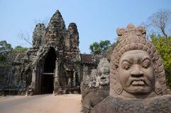 Νότια πύλη Angkor Wat - της Καμπότζης Στοκ Φωτογραφία