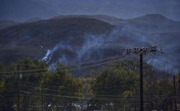 Νότια συνέπεια πυρκαγιών Καλιφόρνιας Στοκ φωτογραφία με δικαίωμα ελεύθερης χρήσης